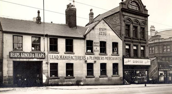 Heaps lead manufacturer old building