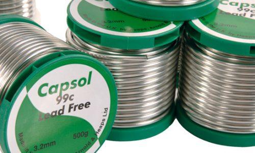 Lead free plumbing solder wire