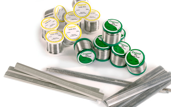 Capsol plumbing solder wires and bars