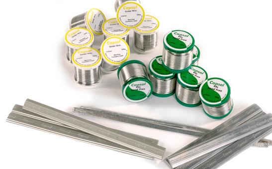 Capsol plumbing solder wires and bars