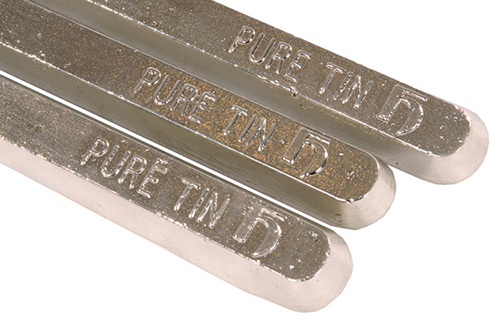 Pure tin stick anodes