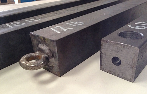 Steel sash bars and weights