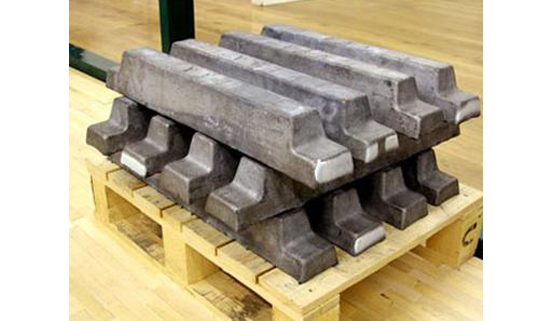 Lead ingot as lead ballast or counterweight