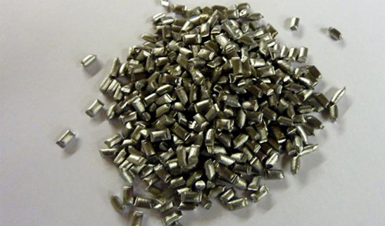 Lead pellets for lead counterweight