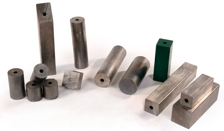 Square, round lead bar and lead sash weights